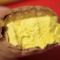 安納芋もなかアイスクリーム 実際の断面図