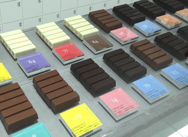 BbyB チョコレート 銀座 店内に陳列された商品2