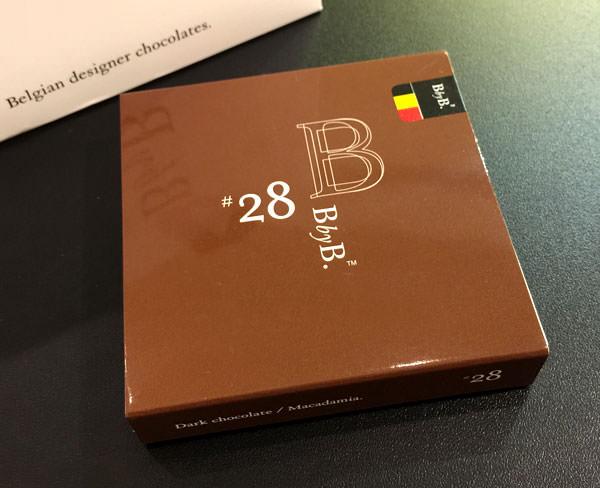 BbyB チョコレート 銀座 ダークチョコレート マカダミア パッケージ